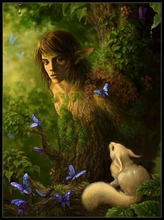 un elfo del bosque