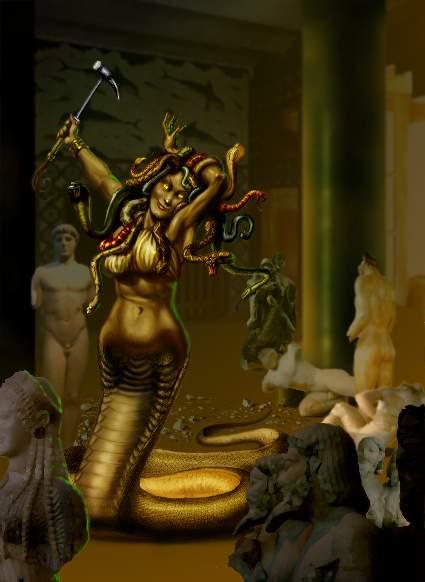 Images de Gorgones et de Nagas